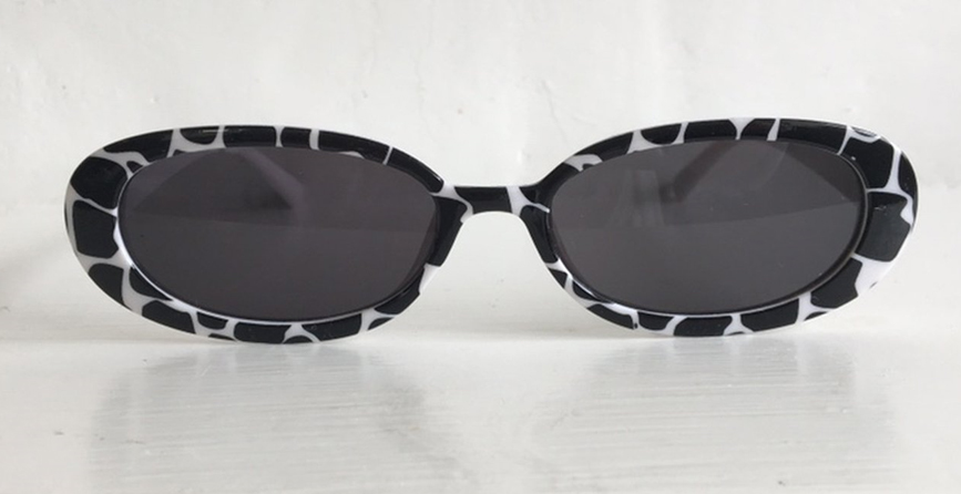 sunglasses with cow print frame